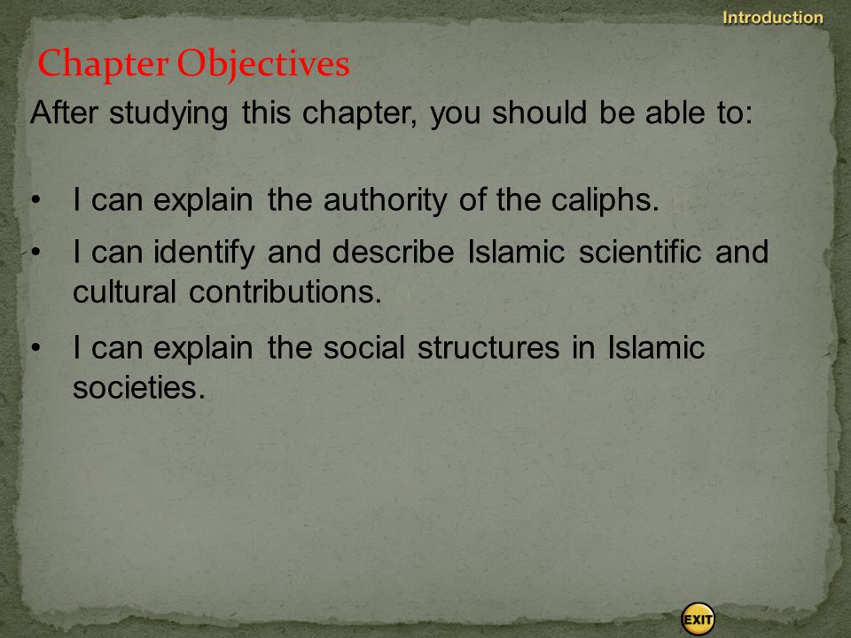 Chapter Objectives After studying this chapter, you should be able to:  I can describe the life of Muhammad.  I can list the basic tenets of Islam.