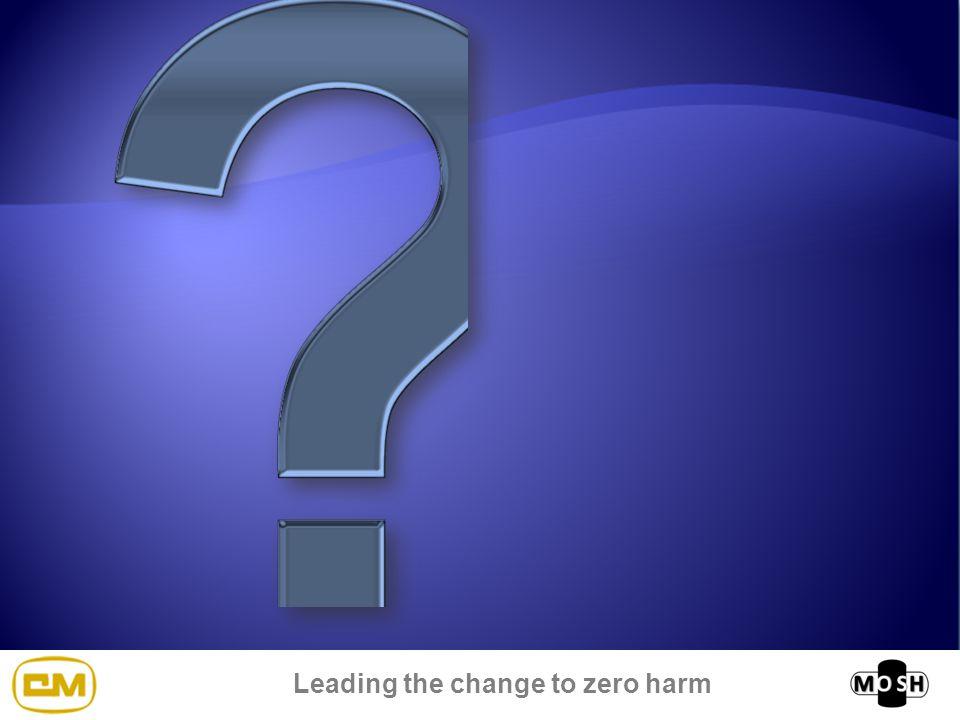 Leading the change to zero harm