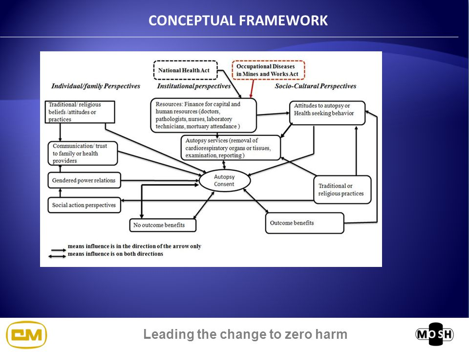 Leading the change to zero harm CONCEPTUAL FRAMEWORK