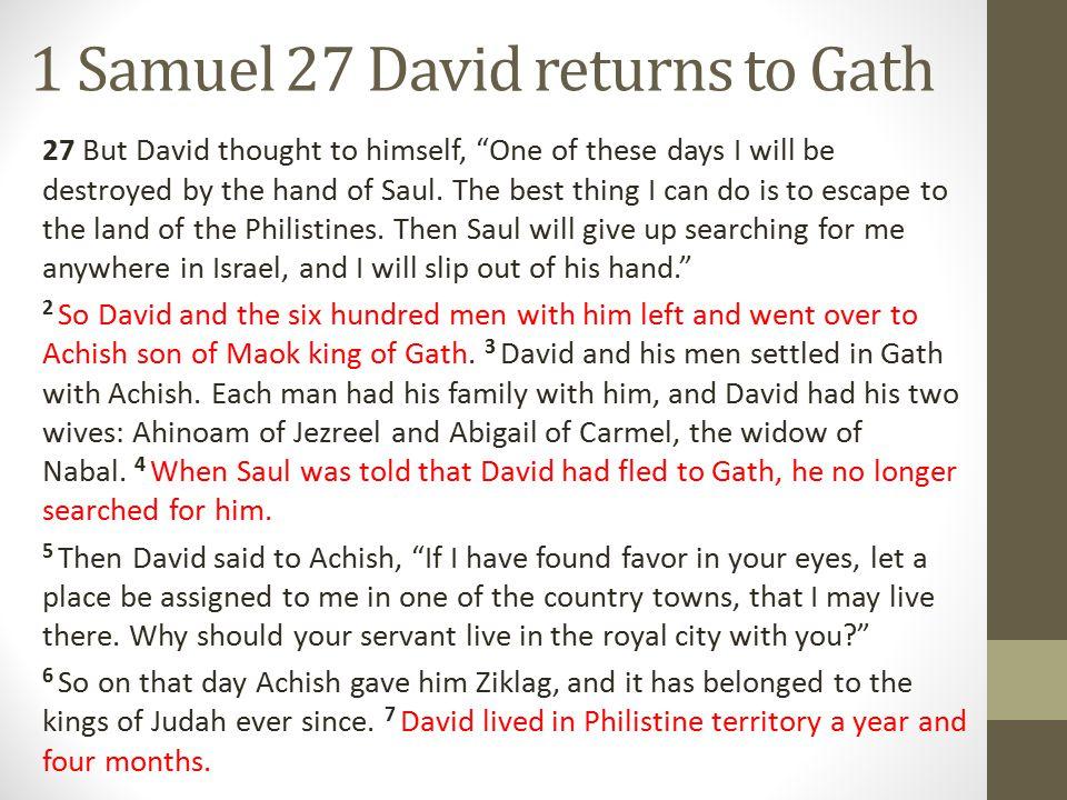 1 SAMUEL 27:8-9 8 Now David and his men went up and raided the Geshurites, Deuteronomy 3:14, Joshua 13:2-13 the Girzites Joshua 10:33 & 16:3, Judges 1:29 and the Amalekites.