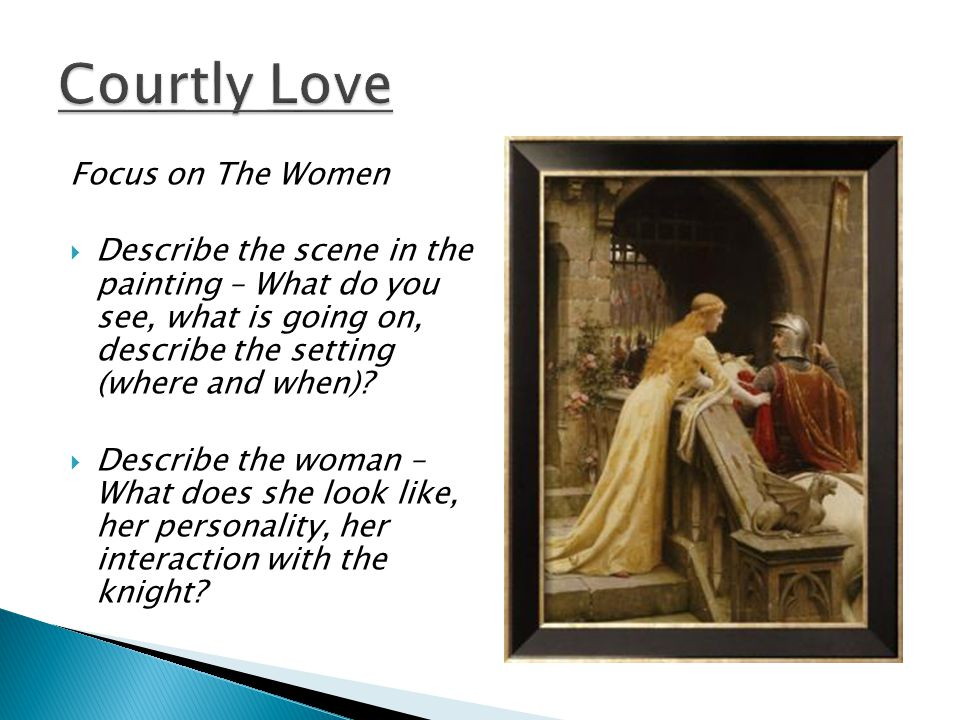 Focus on The Women  Describe the scene in the painting – What do you see, what is going on, describe the setting (where and when).
