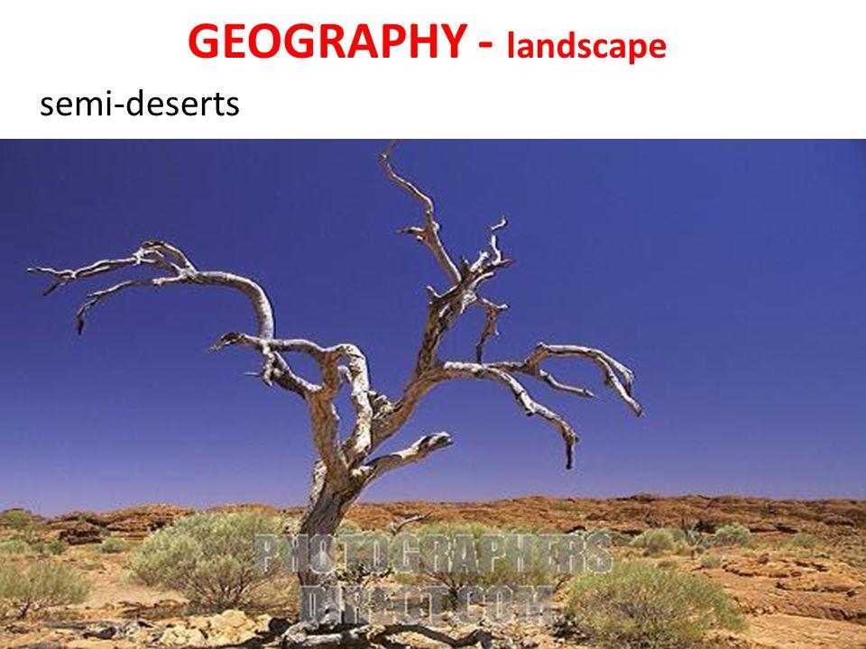 GEOGRAPHY - landscape semi-deserts