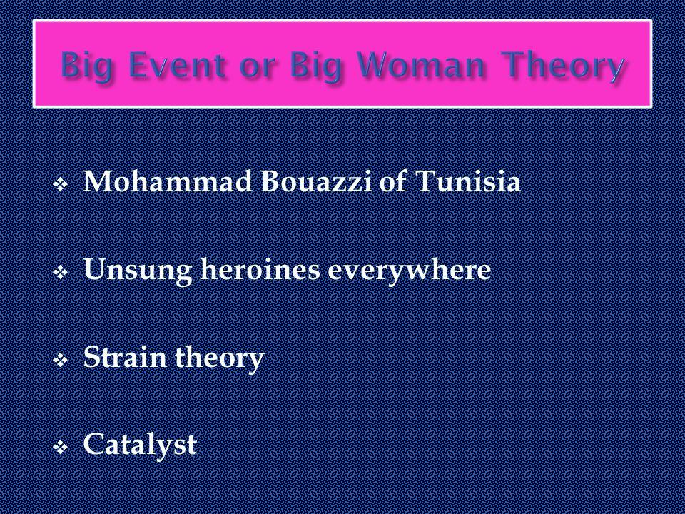  Mohammad Bouazzi of Tunisia  Unsung heroines everywhere  Strain theory  Catalyst