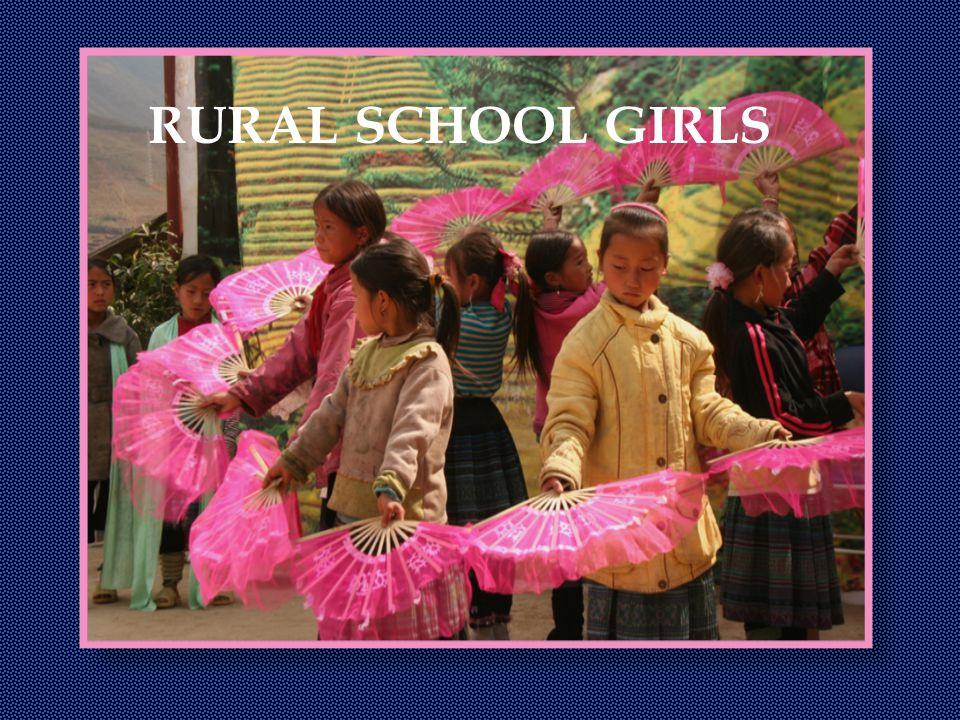 RURAL SCHOOL GIRLS