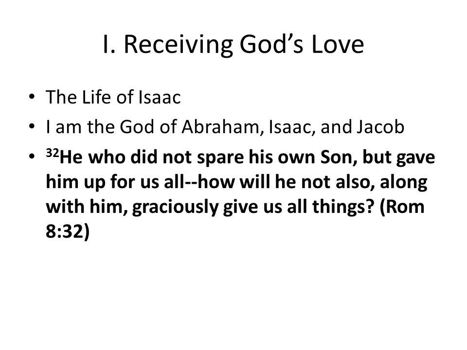 I.Receiving God's Love John—the disciple whom Jesus loved.