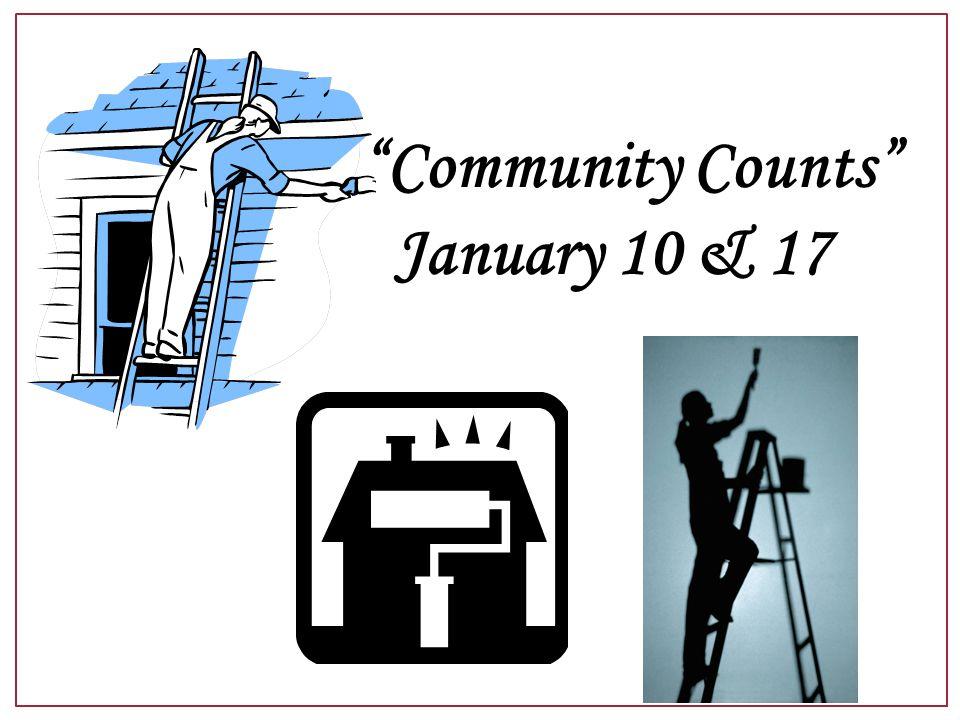Community Counts January 10 & 17