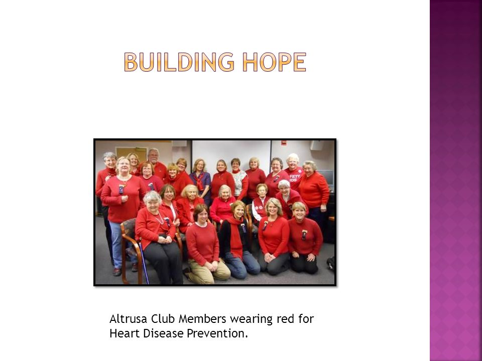Altrusa Club Members wearing red for Heart Disease Prevention.