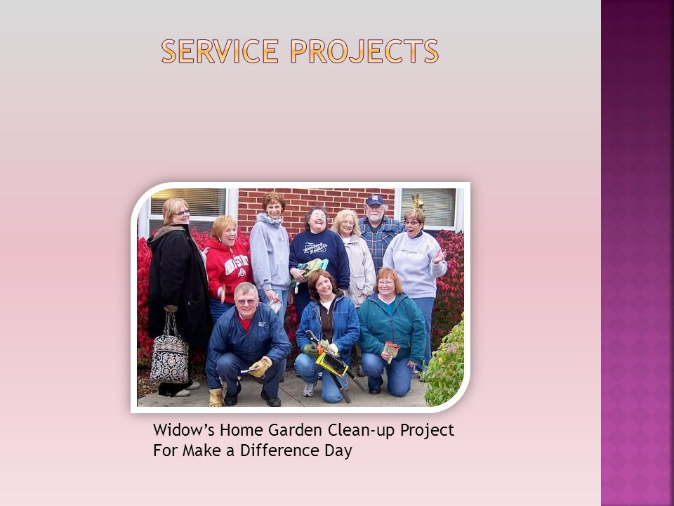Widow's Home Garden Clean-up Project For Make a Difference Day