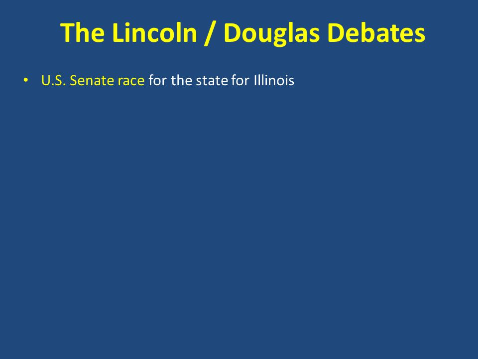 U.S. Senate race for the state for Illinois