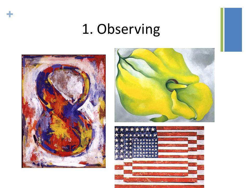 + 1. Observing