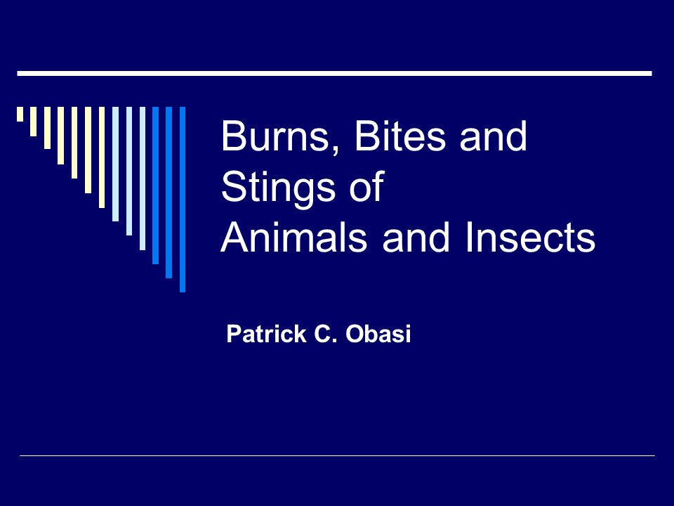 Burns, Bites and Stings of Animals and Insects Patrick C. Obasi