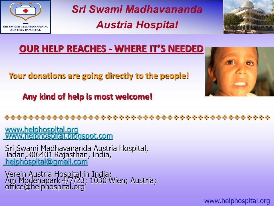 Sri Swami Madhavananda Austria Hospital  www.helphospital.org www.helphospital.org www.helphospital.org ww