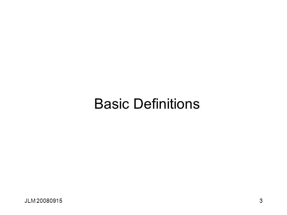 JLM 200809153 Basic Definitions