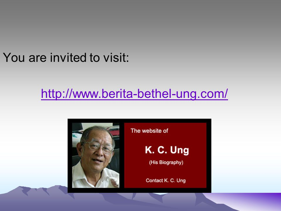 You are invited to visit: http://www.berita-bethel-ung.com/