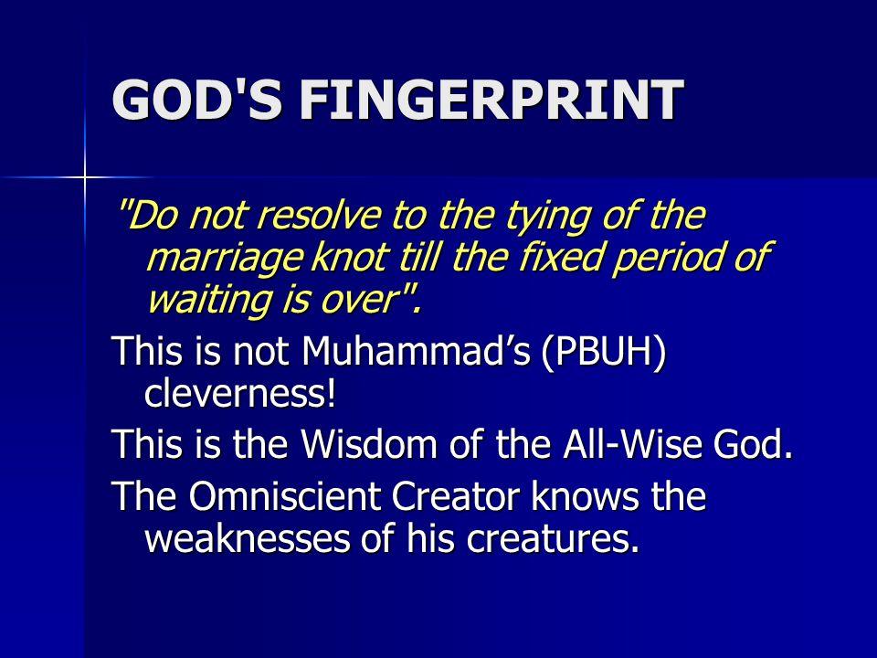 GOD'S FINGERPRINT