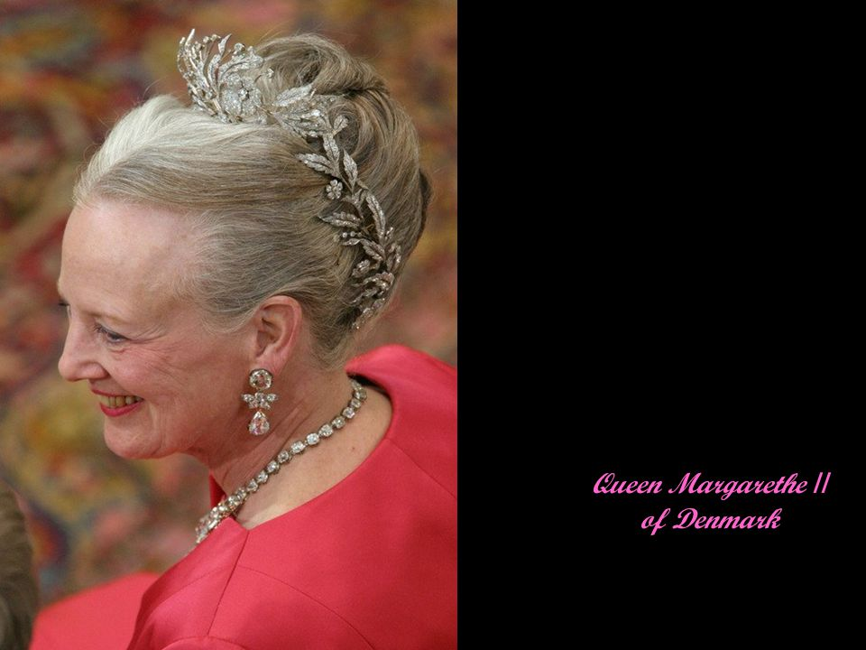 Queen Margarethe of Denmark in profile
