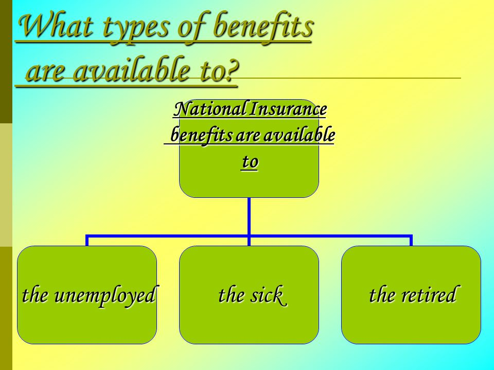 What types of benefits are available to.