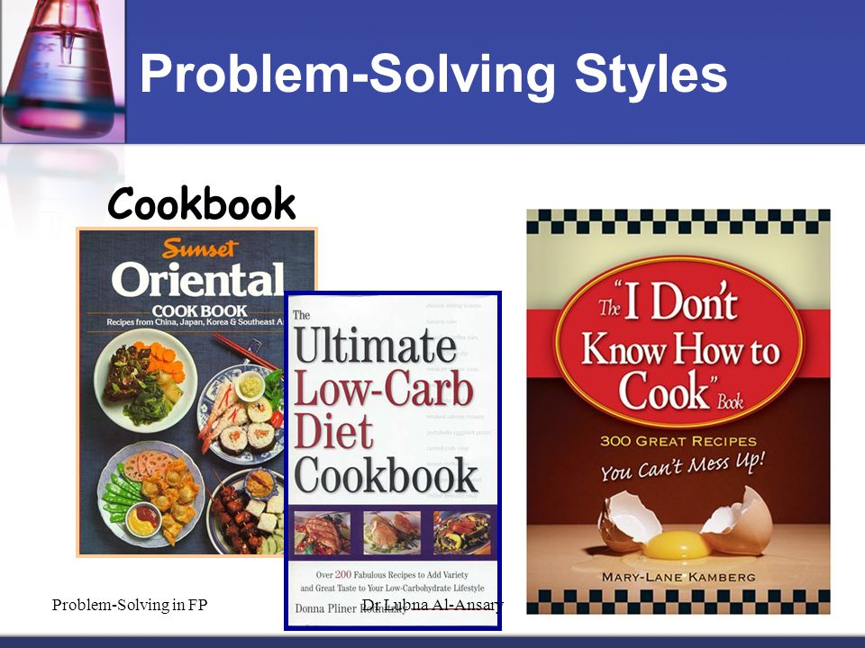 Problem-Solving Styles Cookbook Problem-Solving in FPDr Lubna Al-Ansary