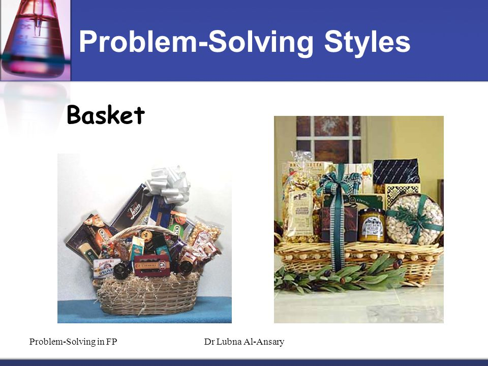 Problem-Solving Styles Basket Problem-Solving in FPDr Lubna Al-Ansary