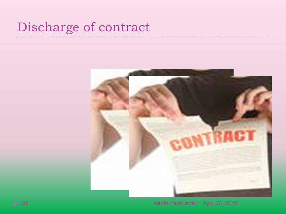 Discharge of contract April 28, 201595santhi narayanan