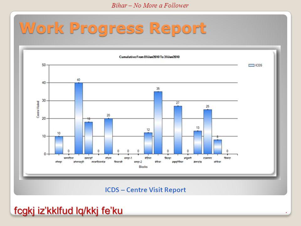 Work Progress Report Bihar – No More a Follower.