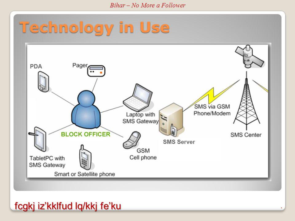. fcgkj iz'kklfud lq/kkj fe'ku Technology in Use Bihar – No More a Follower