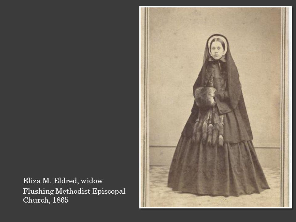 Eliza M. Eldred, widow Flushing Methodist Episcopal Church, 1865