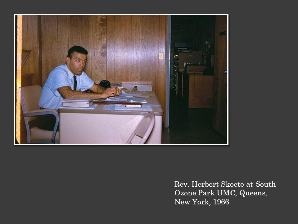 Rev. Herbert Skeete at South Ozone Park UMC, Queens, New York, 1966