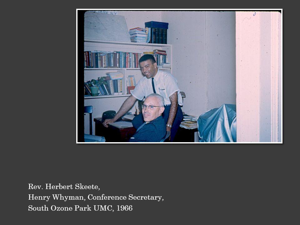 Rev. Herbert Skeete, Henry Whyman, Conference Secretary, South Ozone Park UMC, 1966