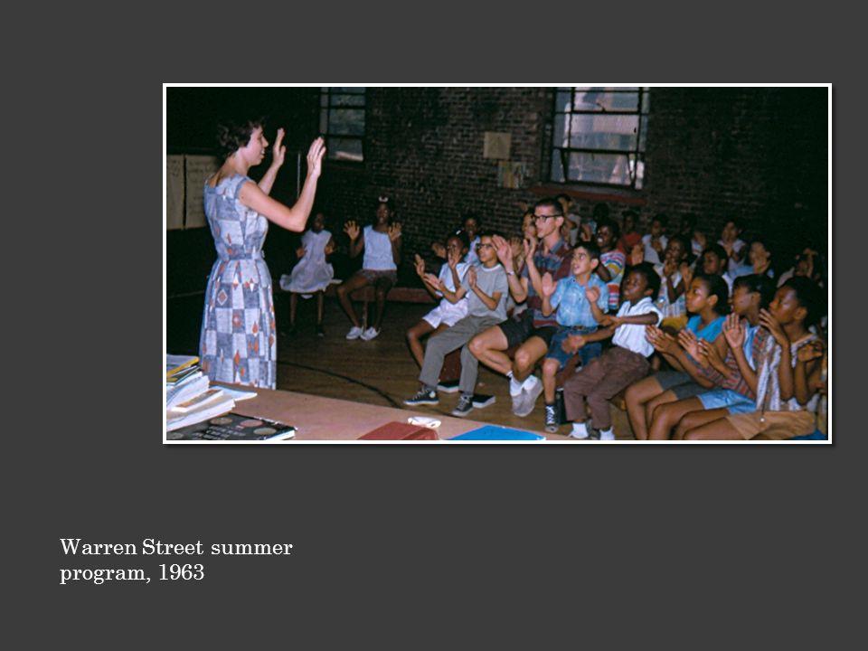 Warren Street summer program, 1963