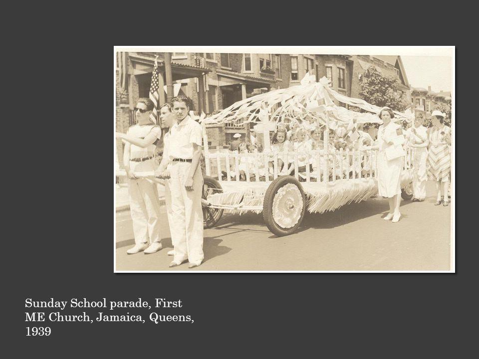 Sunday School parade, First ME Church, Jamaica, Queens, 1939