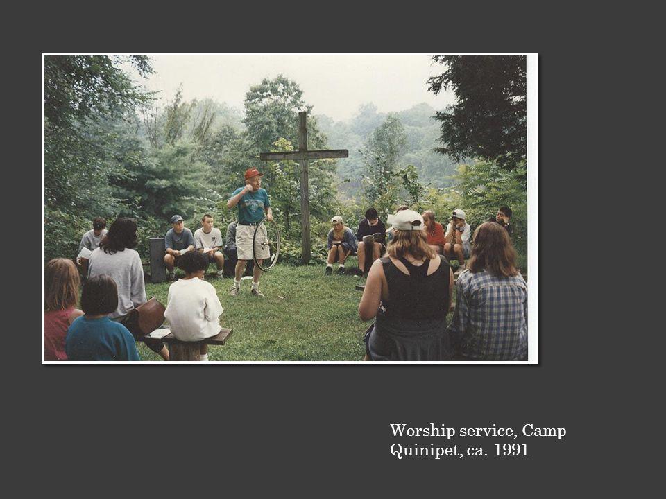 Worship service, Camp Quinipet, ca. 1991