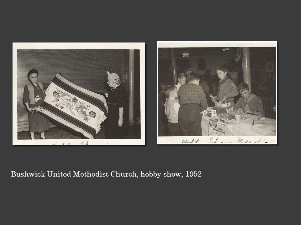 Bushwick United Methodist Church, hobby show, 1952