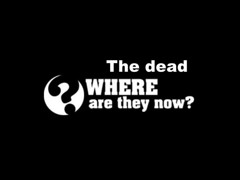 So where are the dead really?