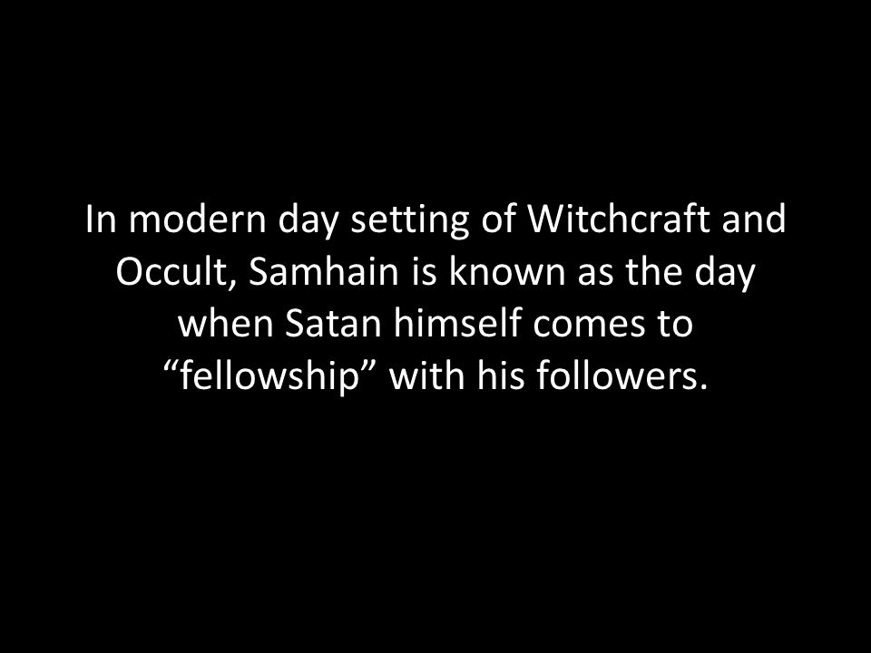 Around the 7 th century, the Roman Catholic Church took over the Samhain celebration.