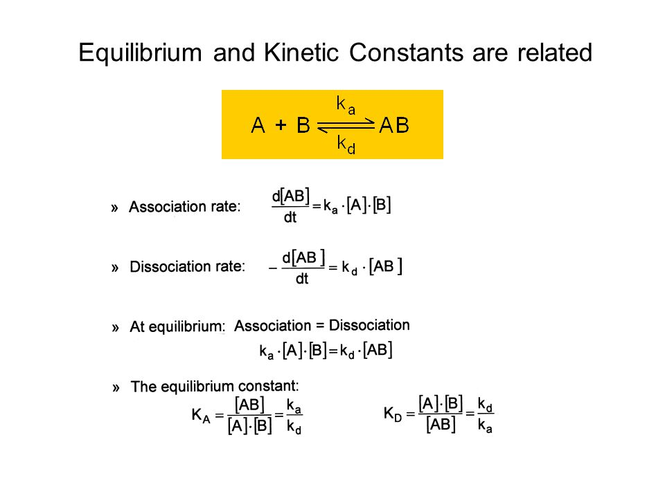 Equilibrium and Kinetic Constants are related