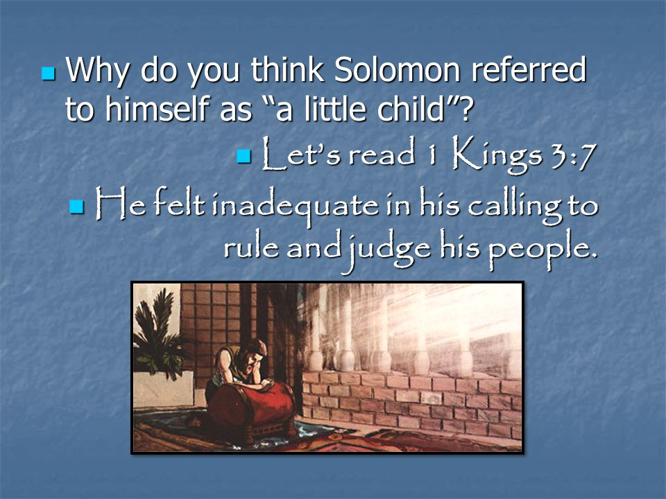 What advice did David give to his son Solomon.