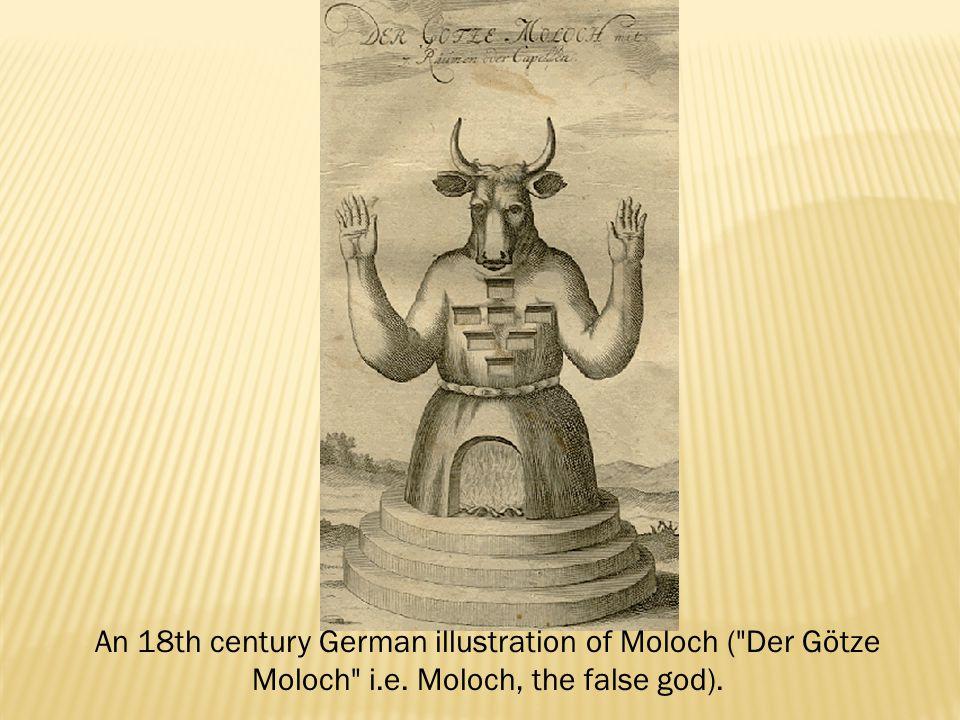 An 18th century German illustration of Moloch (