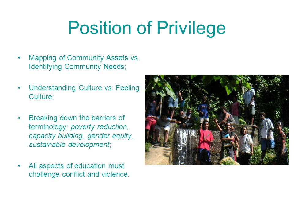 Position of Privilege Mapping of Community Assets vs.