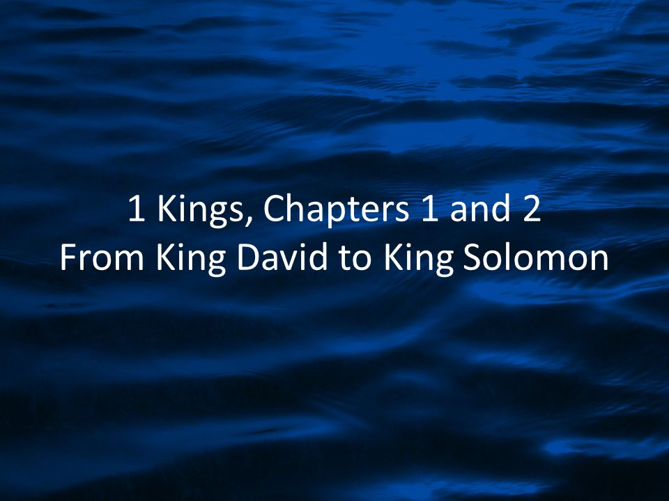 An Introduction to 1 Kings 1 Kings records the division of the kingdom; 2 Kings records the collapse of the kingdom.