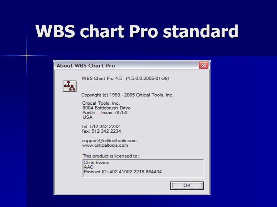WBS chart Pro standard
