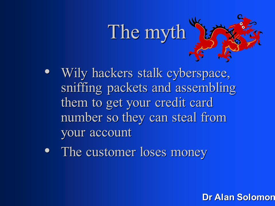 Dr Alan Solomon CC Fraud The myth The myth The reality The reality Who gets hurt? Who gets hurt?