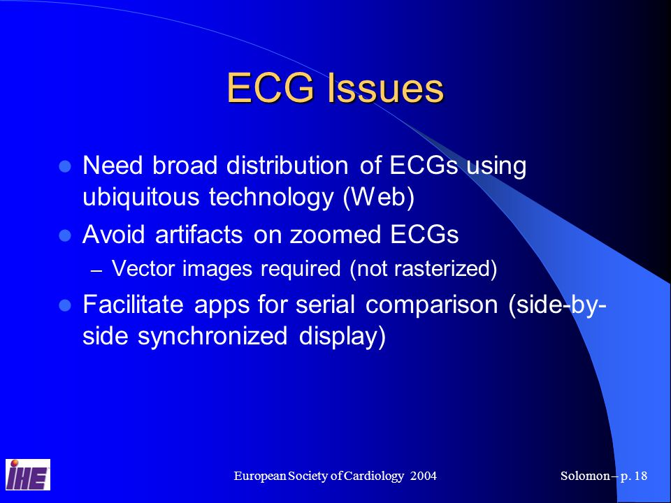 European Society of Cardiology 2004Solomon – p.