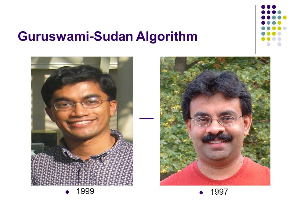 Guruswami-Sudan Algorithm 1999 1997