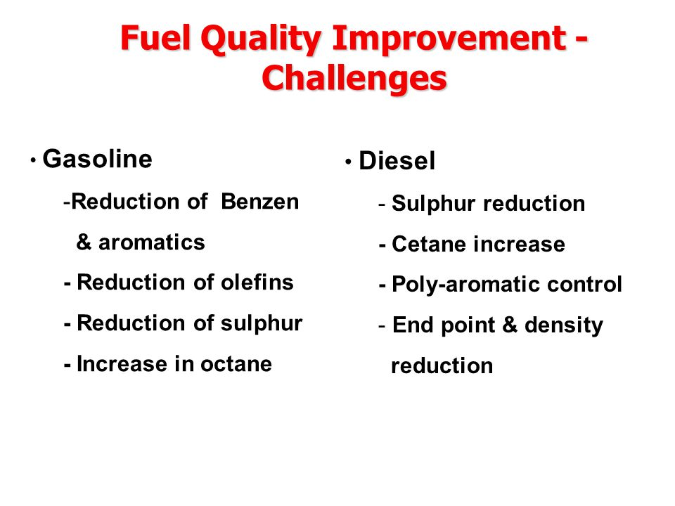 Timeline for Vehicular Emission Norms & Fuel Quality Entire country (Except for Metros and some selected cities Bharat Stage - II1st April 2005 Bharat Stage - III 1st April 2010 Metros & Major cities (Bangalore, Hyderabad, Ahmedabad, Pune, Surat, Kanpur and Agra) # Bharat Stage - III 1st April 2005 Euro-IV Equivalent 1st April 2010 # Lucknow & Solapur also added subsequently.
