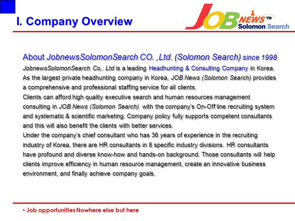 Job opportunities Nowhere else but here Job opportunities Nowhere else but here I.