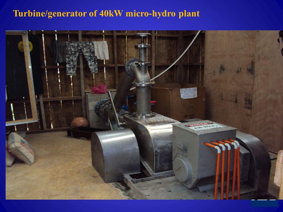 Turbine/generator of 40kW micro-hydro plant