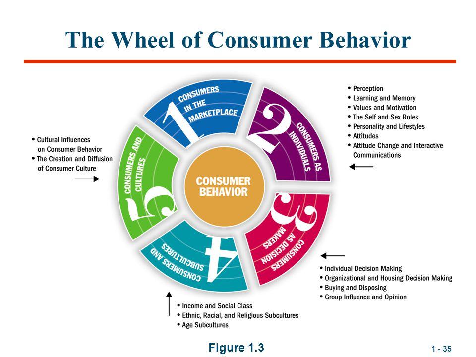 1 - 35 The Wheel of Consumer Behavior Figure 1.3
