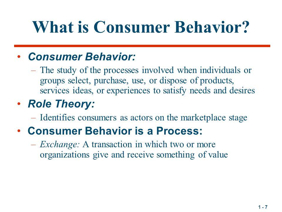 1 - 7 What is Consumer Behavior.