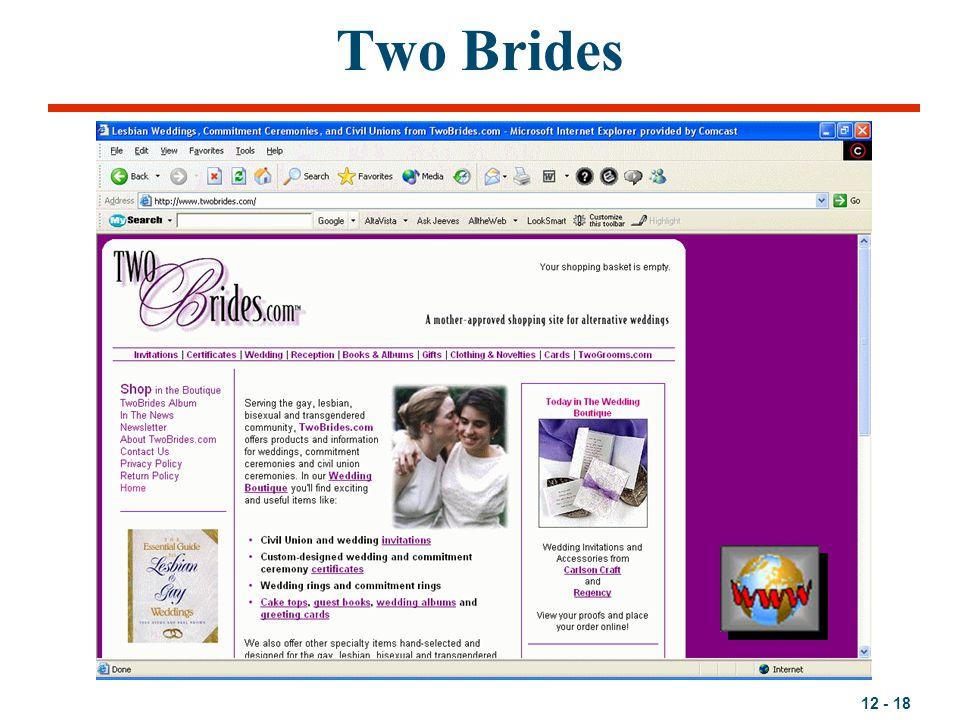 12 - 18 Two Brides